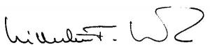 Unterschrift Wilhelm F. Walz